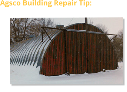 Agsco Building Repair Tip: